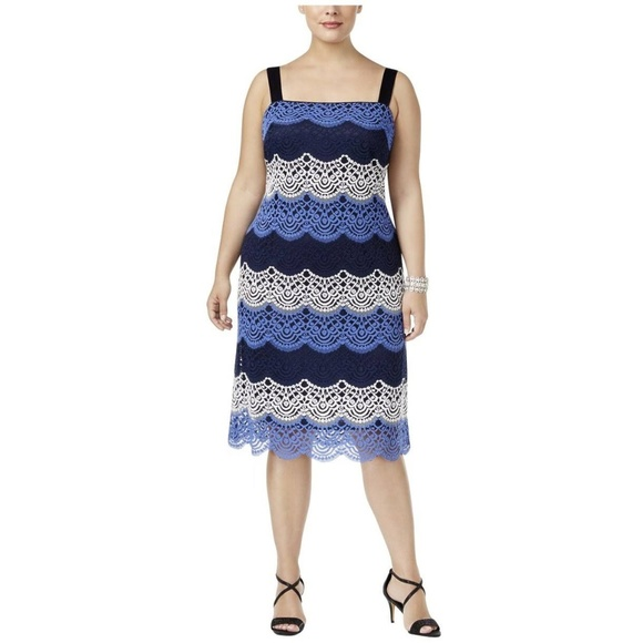 dede90002f5 R M Richards Lace A-Line Dress Plus Size 22W